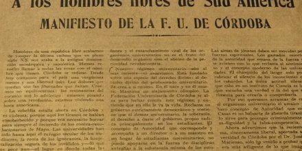 Ejemplar original de La Gaceta Universitaria que publicó el manifiesto de Córdoba.