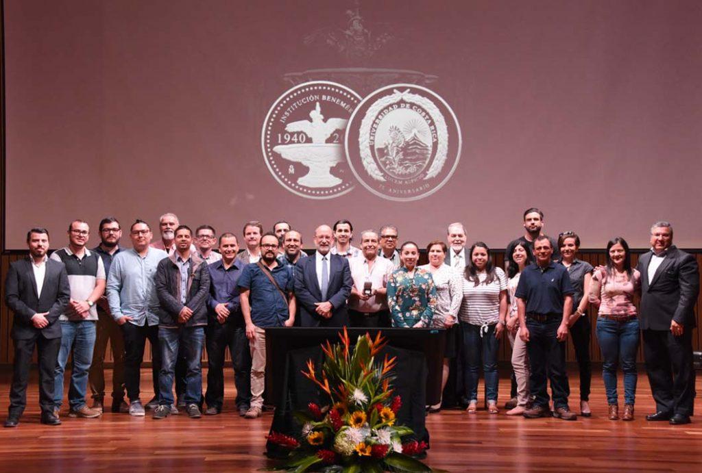 La OEPI en la entrega de la medalla institucional (Foto: Karla Richmond / ODI).